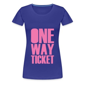 One Way (Front/Back Print) - Women's Premium T-Shirt