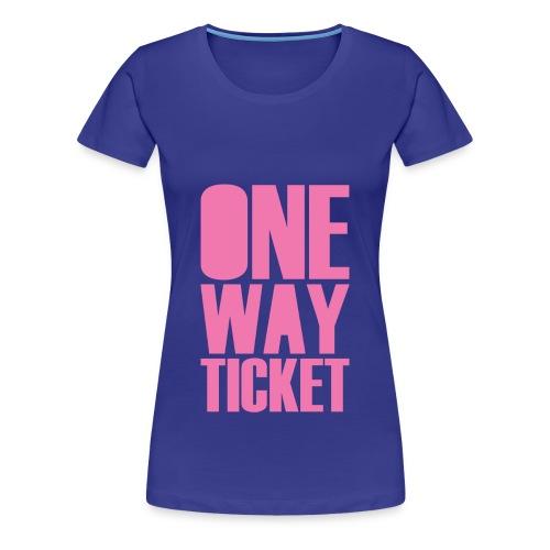One Way (Front/Back Print) - Women's Premium T-Shirt