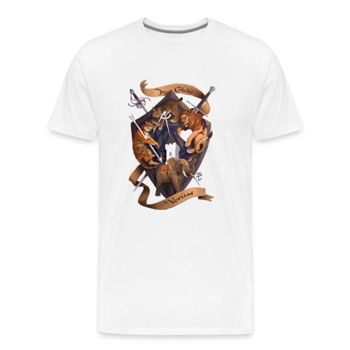In Gladio Veritas t-shirt, WHITE - Men's Premium T-Shirt
