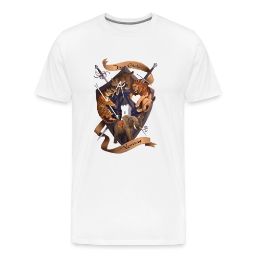 In Gladio Veritas t-shirt, WHITE - Men's Premium T-Shirt