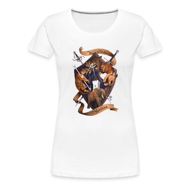In Gladio Veritas t-shirt, WHITE