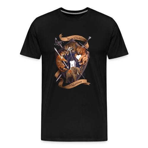 In Gladio Veritas t-shirt, BLACK - Men's Premium T-Shirt