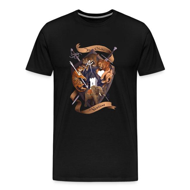 In Gladio Veritas t-shirt, BLACK