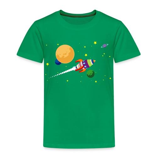 Cartoon ruimte raket 02 - Kinderen Premium T-shirt