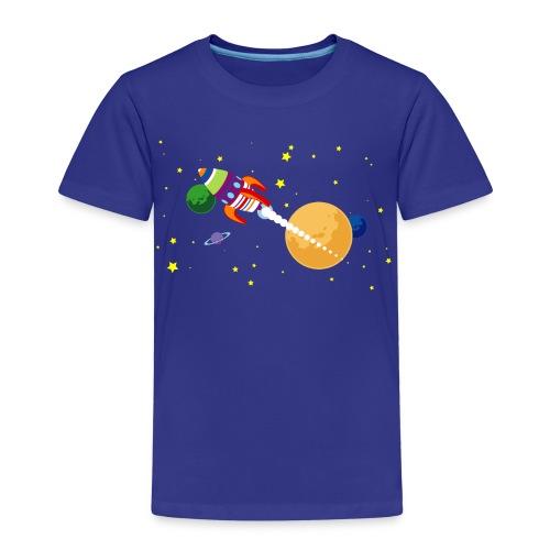 Cartoon ruimte raket 01 - Kinderen Premium T-shirt