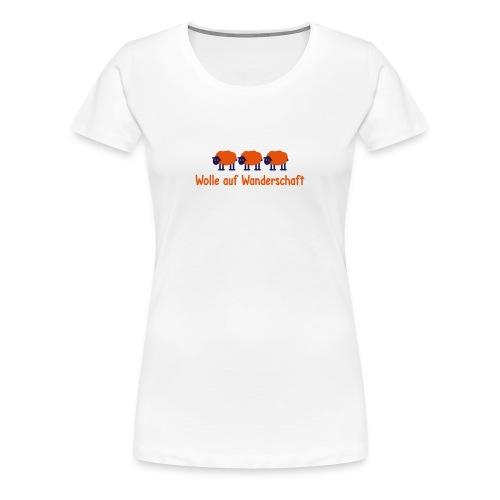 Frauen T-Shirt Wolle auf Wanderschaft Schafe - Women's Premium T-Shirt