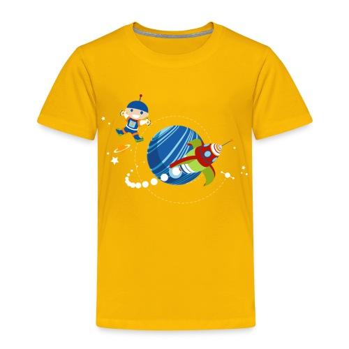 Ruimte man met zijn raket - Kinderen Premium T-shirt
