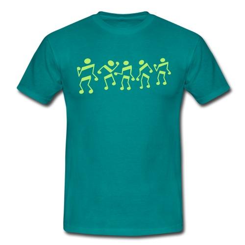 tanzende Noten - Männer T-Shirt