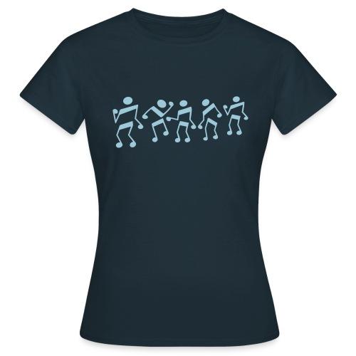 tanzende Noten - Frauen T-Shirt