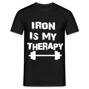 Iron Is My Therapy - T-shirt Homme