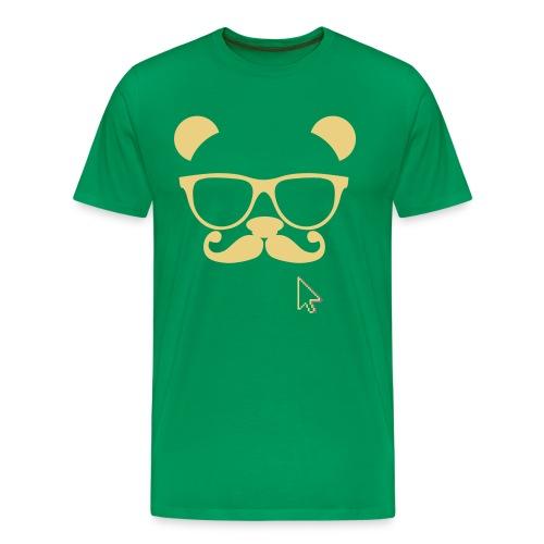 Mens Hipster panda t shirt. - Men's Premium T-Shirt