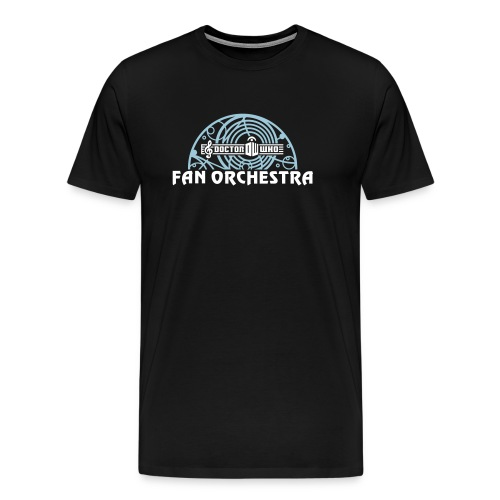Men's Black - DWFO logo T - Men's Premium T-Shirt