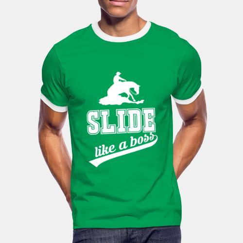 Slide like a boss Herren Kontrast Shirt - Männer Kontrast-T-Shirt