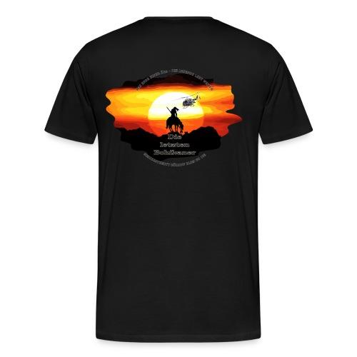 Bohikaner mit Helm - Männer Premium T-Shirt