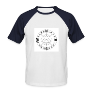 T-Shirts ~ Men's Baseball T-Shirt ~ Downsman Logo Baseball Shirt