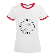 T-Shirts ~ Women's Ringer T-Shirt ~ Downsman Logo Ladies Contrast T