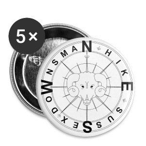 Downsman Logo 32mm Badges x 5 - Buttons medium 32 mm