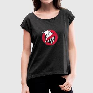 goatbusters T-Shirts - Women's T-shirt with rolled up sleeves