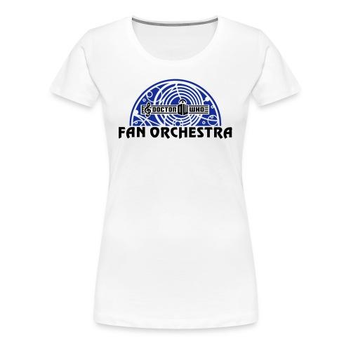 Women's White - DWFO logo T - Women's Premium T-Shirt