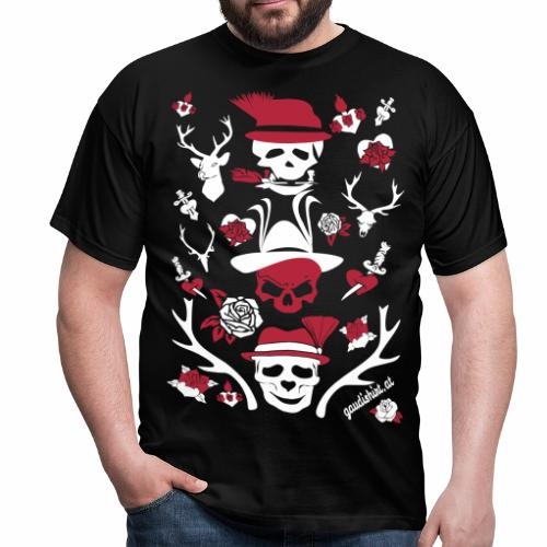 Männer T-Shirt - Gaudishirt, hirsch t-shirt, lausmadl, oktoberfest t-shirt, tracht t-shirt, wild t-shirt, edelwild, lederhose, dirndl, österreich t-shirt