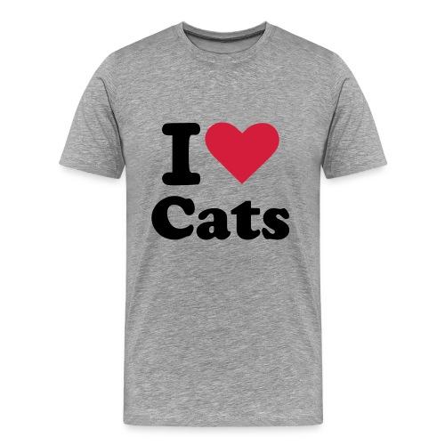 I Heart Cats - Men's Premium T-Shirt