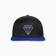 Black/bright royal Diamond Caps & Hats