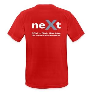 neXt T-Shirt - atmungsaktiv rot - Männer T-Shirt atmungsaktiv