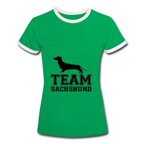 Team Dachshund - Maglietta Contrast da donna