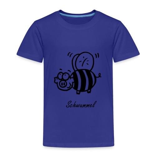 Schwummel Schwarz mit Name - Kinder Premium T-Shirt