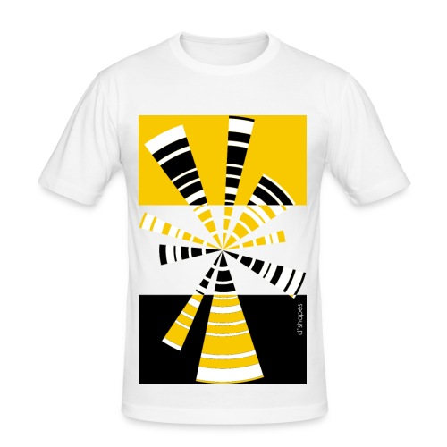 Radio Yellow - Man Slim T-shirt   - Maglietta aderente da uomo
