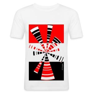 Radio Red - Man Slim T-shirt   - Maglietta aderente da uomo
