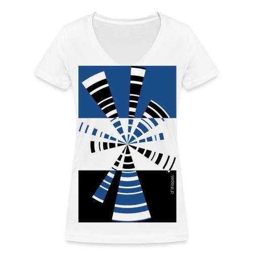 Radio Blue - Woman V T-shirt - T-shirt ecologica da donna con scollo a V di Stanley & Stella