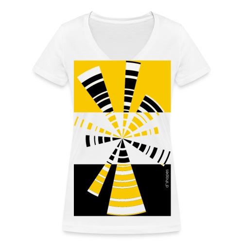 Radio Yellow - Woman V T-shirt - T-shirt ecologica da donna con scollo a V di Stanley & Stella