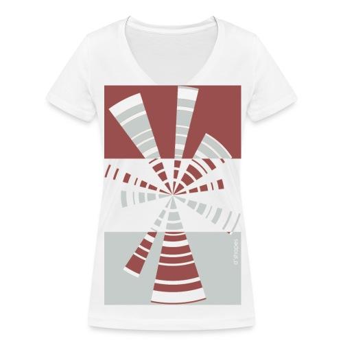 Radio Marsala - Woman V T-shirt - T-shirt ecologica da donna con scollo a V di Stanley & Stella