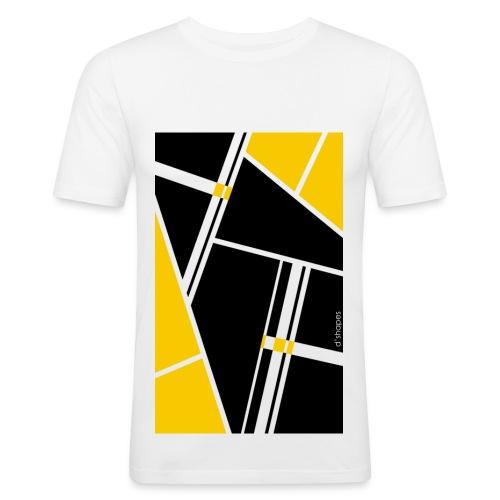 Blocks Yellow - Man Slim T-shirt   - Maglietta aderente da uomo