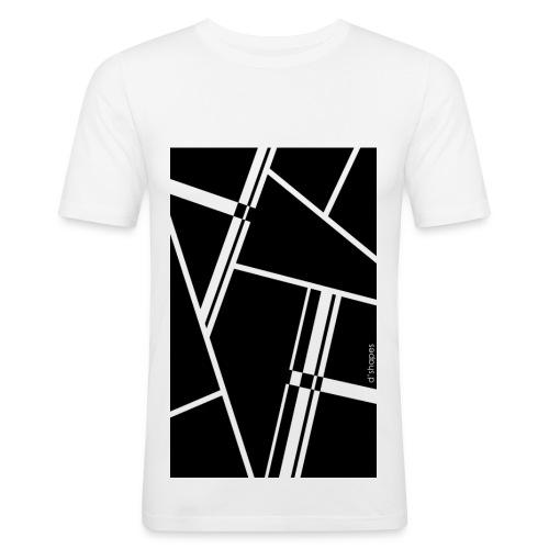 Blocks Black - Man Slim T-shirt   - Maglietta aderente da uomo