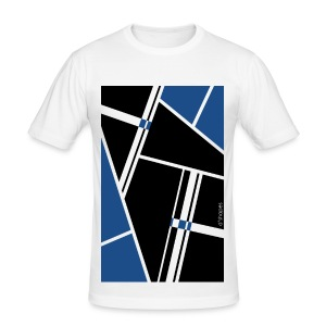Blocks Blue - Man Slim T-shirt   - Maglietta aderente da uomo