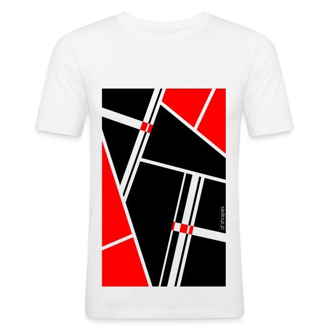 Blocks Red - Man Slim T-shirt