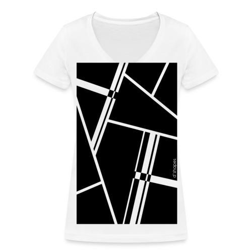 Blocks Black - Woman V T-shirt - T-shirt ecologica da donna con scollo a V di Stanley & Stella