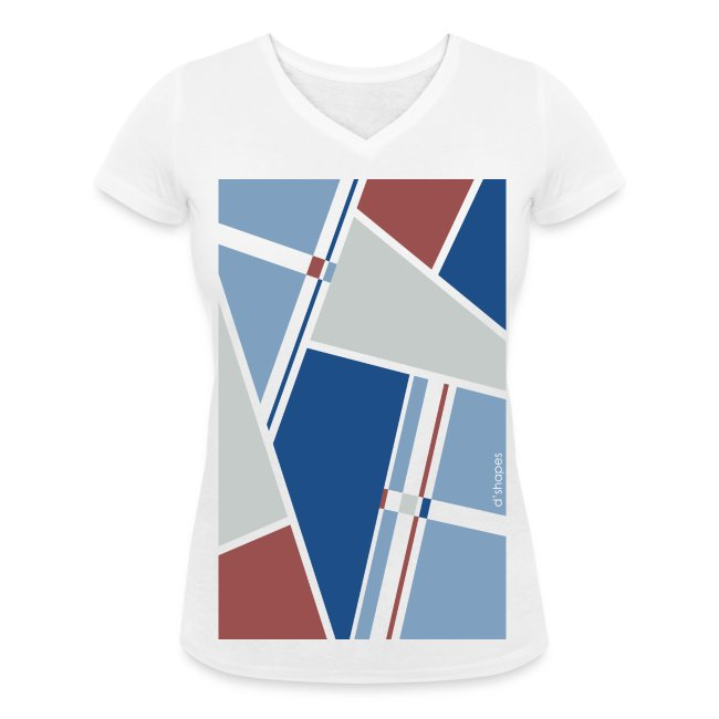 Blocks Dusk - Woman V T-shirt