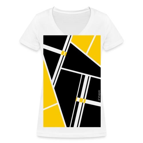 Blocks Yellow - Woman V T-shirt - T-shirt ecologica da donna con scollo a V di Stanley & Stella