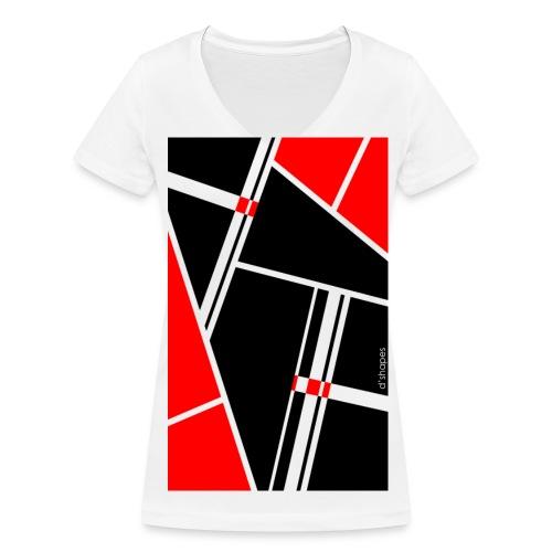 Blocks Red - Woman V T-shirt - T-shirt ecologica da donna con scollo a V di Stanley & Stella