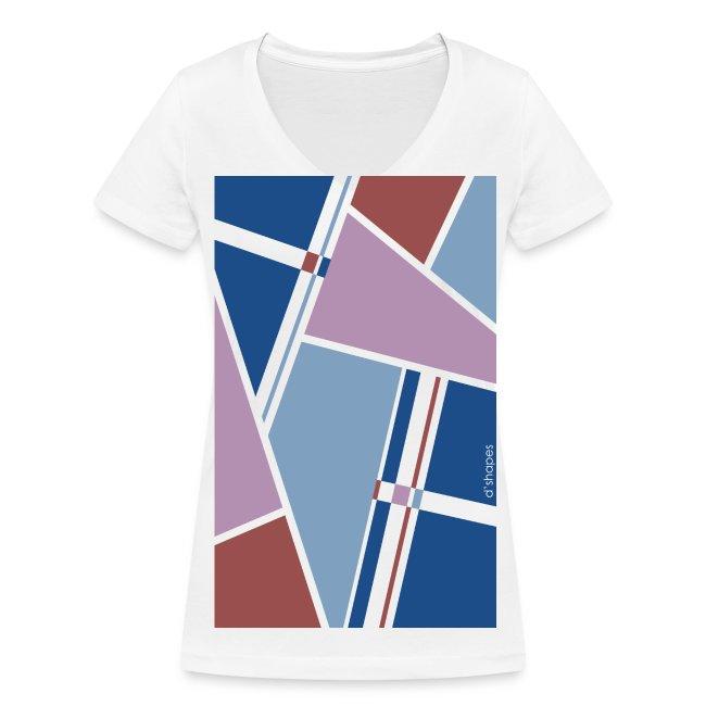 Blocks Lavander - Woman V T-shirt