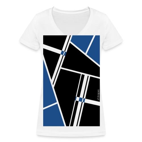 Blocks Blue - Woman V T-shirt - T-shirt ecologica da donna con scollo a V di Stanley & Stella