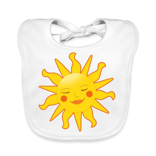 Latz Sonne Orange - Baby Bio-Lätzchen