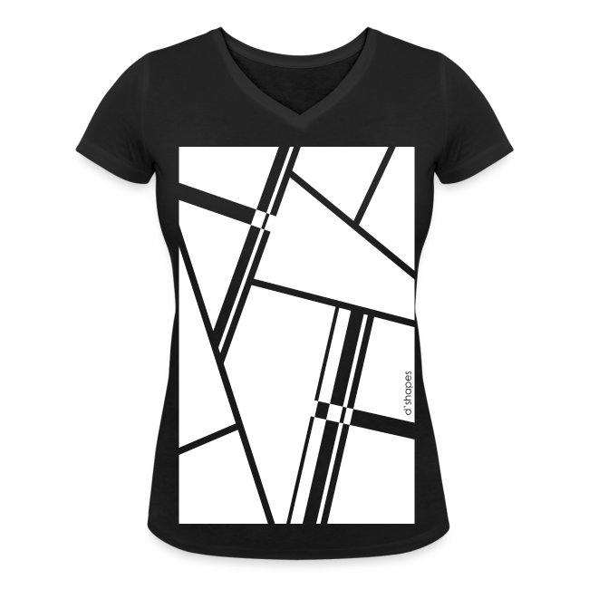 Blocks White - Woman V T-shirt