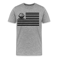 T-Shirts ~ Männer Premium T-Shirt ~ Flaggen-Shirt (grau Version 2)