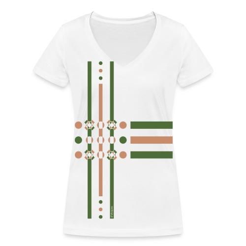 Dots Treetop - Woman V T-shirt - T-shirt ecologica da donna con scollo a V di Stanley & Stella