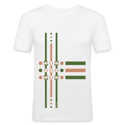 Dots Treetop - Man Slim T-shirt   - Maglietta aderente da uomo