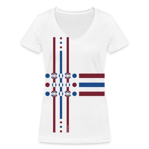 Dots Dusk - Woman V T-shirt - T-shirt ecologica da donna con scollo a V di Stanley & Stella